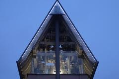 Detailansicht des Glockenturmes in WEilbach